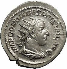Gordian III 244AD Silver  Ancient Roman Coin Forethought Goddes Cult   i45008