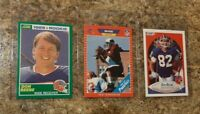 (3) Don Beebe 1989 Score Pro Set Rookie Card Lot RC 1990 Fleer Bill's Packers