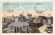 Fort Worth Texas North From Ninth Street To Finland Postcard 1921