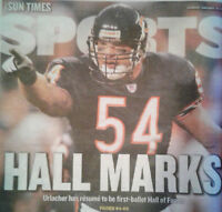 Brian Urlacher Chicago Bears NFL Hall of Fame-El Chapo Bust Chicago SunTimes