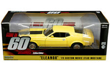 GONE in 60 ELEANOR 1973 Ford Mustang Mach 1 Diecast Car 1:18 Greenlight 10 inch