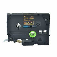 """1PK TZ334 TZe334 Gold on Black Label Tape for Brother P-Touch PT-9400 12mm 1/2"""""""