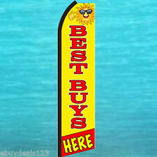BEST BUYS HERE Sun FLUTTER FEATHER FLAG Swooper Vertical Advertising Sign Banner