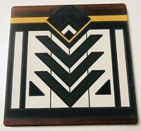 "NEW Frank Lloyd Wright Design Trivet Tile Hotplate Sandstone MEYER MAY 7"" Mod"