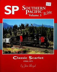 DR327 MORNING SUN BOOKS SOUTHERN PACIFIC IN COLOR VOLUME 3 CLASSIC SCARLET 58-71