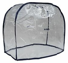 ACCLAIM Bag Cover Ladies Clear Navy Blue Trim Waterproof Bowling Clear Plastic