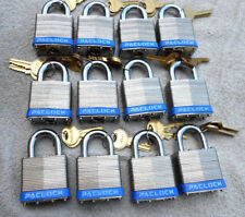 (12) 5 Pin   Padlocks   American keyway  AM6   - Size Similar Master  lock #1