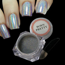 1g/Box Holographic Laser Powder Nail Glitter Rainbow Chrome Pigments Decoration