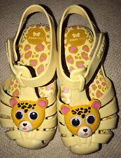 Zaxy Girls Jelly Bear Cub Face Sandals. Size 10. EUC