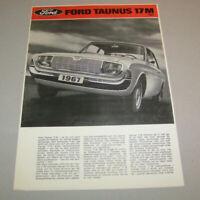 Prospekt / Broschüre - Ford Taunus 17M Typ P5 - Ausgabe 1967