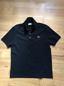 Lacoste Sport Polo Shirt Schwarz / Größe FR 7 Slim Fit