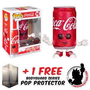 FUNKO POP VINYL COCA COLA COKE CAN DIAMOND GLITTER #78 EXCLUSIVE + PROTECTOR
