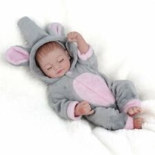 "10""Real Life Reborn Dolls Newborn Lifelike Full Vinyl Silicone Baby Girl+Clothes"
