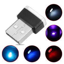 Random Mini USB Wireless Car Interior Home LED Light Blue Red Atmosphere Lamp