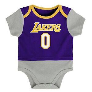 Outerstuff Los Angeles Lakers Kyle Kuzma #0 NBA Infants Referee Creeper, Purple