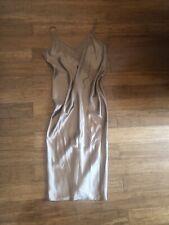 TOPSHOP GOLD SATIN SLIP DRESS UK10