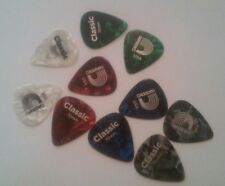 Daddario Classic Celluloid Picks Assorted Pearl 10 Pack Medium.70mm USA Made