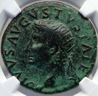 Divus AUGUSTUS Authentic Ancient 22AD Rome Dupondius Roman Coin ALTAR NGC i82696