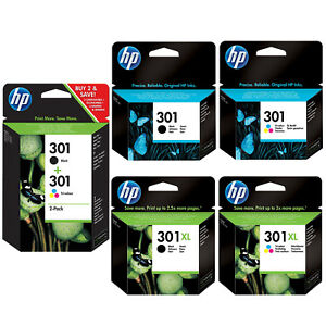 Genuine HP 301 Combo / 301XL Black & Colour Ink Cartridges *Choose your ink* VAT