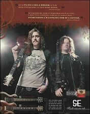 Opeth Fredrik Akesson Mikael Akerfeldt Signature PRS SE guitar 2012 ad print