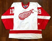 Steve Yzerman #19 Vintage Starter Detroit Red Wings Hockey Jersey Size XL NHL