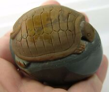 #11 157g Natural Jasper Hand Carved Sea Turtle Carving Specimen 5 1/2 oz 58mm