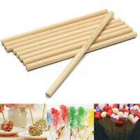 100/ 200 X Round Wooden Lollipop Lolly Sticks Cake Dowels For DIY Food Crafts