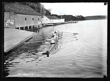 Vintage POSTER  Rare   Connecticut  YALE UNIVERSITY  Rowing Regatta Team  1910's