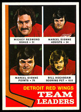 1974-75 OPC O PEE CHEE 84 MARCEL DIONNE MICKEY REDMOND NM RED WINGS TEAM LEADERS