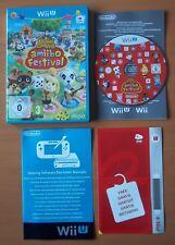 ANIMAL CROSSING AMIIBO FESTIVAL Jeu pour console Wii U + notice Code Pin  WIIU