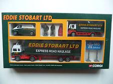 Corgi 91356 Volvo, Ford Cargo, Transit, Figures, Cones Set - Eddie Stobart. MIB.