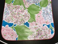 Retro Hydrangea Flower OILCLOTH Dining Table RUNNER RV BBQ Picnic Cottage Chic