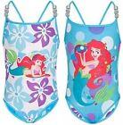 NEW Disney Ariel Little Mermaid Girls Reversible One Piece Swimsuit Sz XXS 2/3