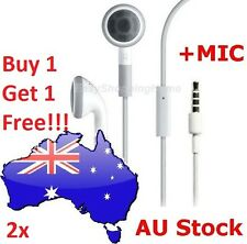 2x Handsfree Headphones Earphones with MIC for Apple iPhone 5 5S 5C 6 Plus iPad