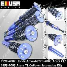 1998-2002 Honda Accord Full Coilover Suspension Kits Adj Ride Heihgt  BLUE