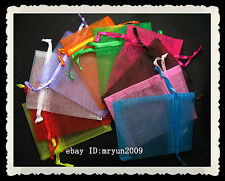 FREE 50Pcs Organza Jewellery Xmas Holidays Cards Party Supply Gift Wrap Bags