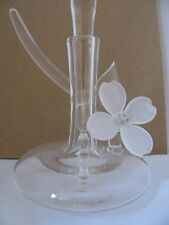 Art glass Perfume Bottle w/frosted glass flower. Great gift or treat yourself!