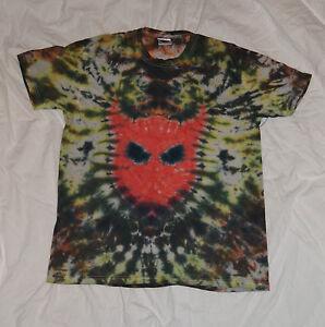 Tie Dye DEVIL goth handmade tie dye T shirt UNISEX ALL SIZES S-5XL