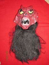 Pmg Halloween Devil Rubber Mask With Black Hair