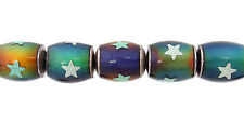 Mirage™ (Mood) Beads - Oval with stars 8 x 12mm - (MM812s) - Pkg of 2