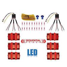 Universal Sequential LED Tail Brake Turn Signal Blinker Light Lamp Module Kit
