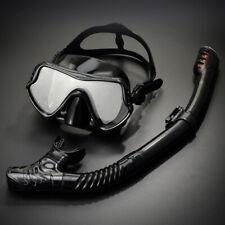 Promate Scuba Dive Snorkeling Purge Mask Dry Snorkel Gear Set Black Silicone
