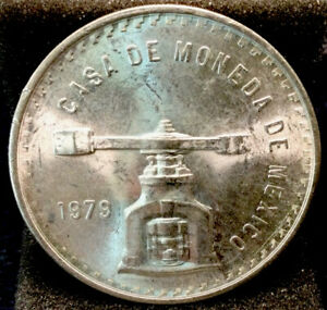 Large World Silver Coin - Unc. 1979 Mexico 1 Onza - Type 4 #928