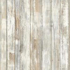 Distressed Wood Peel Stick Wall Decor Rustic Sticker Wallpaper Reusable New