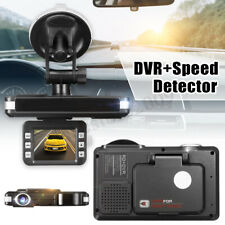 2 in 1 HD Auto Car DVR Radar Dash Cam Recorder Camera Video Speed Detector video