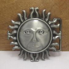 Metal atztec Sun Emblem Buckle-adorno en la cintura-sol maya Indian Helios logotipo