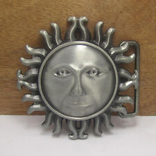 METAL ATZTEC SUN EMBLEM BUCKLE - Gürtelschnalle - Sonne Maya Indian Helios Logo
