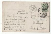 Isle Of Man Ballaugh 29 Aug 1910 Single Ring Postmark 073c