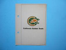 1971/72 TORONTO SUN NHL ACTION HOCKEY PHOTO CALIFORNIA GOLDEN SEALS TEAM LOGO