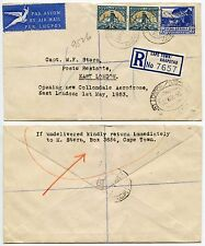 SOUTH AFRICA 1953 REGISTERED COLLONDALE AERODROME EAST LONDON